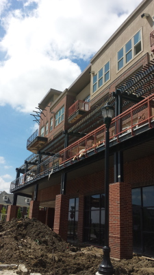 Current project Watermere at The Canals 260' Metal Trellis Frisco, Tx.
