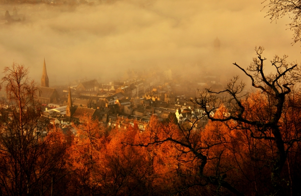 Morning mist in Peebles