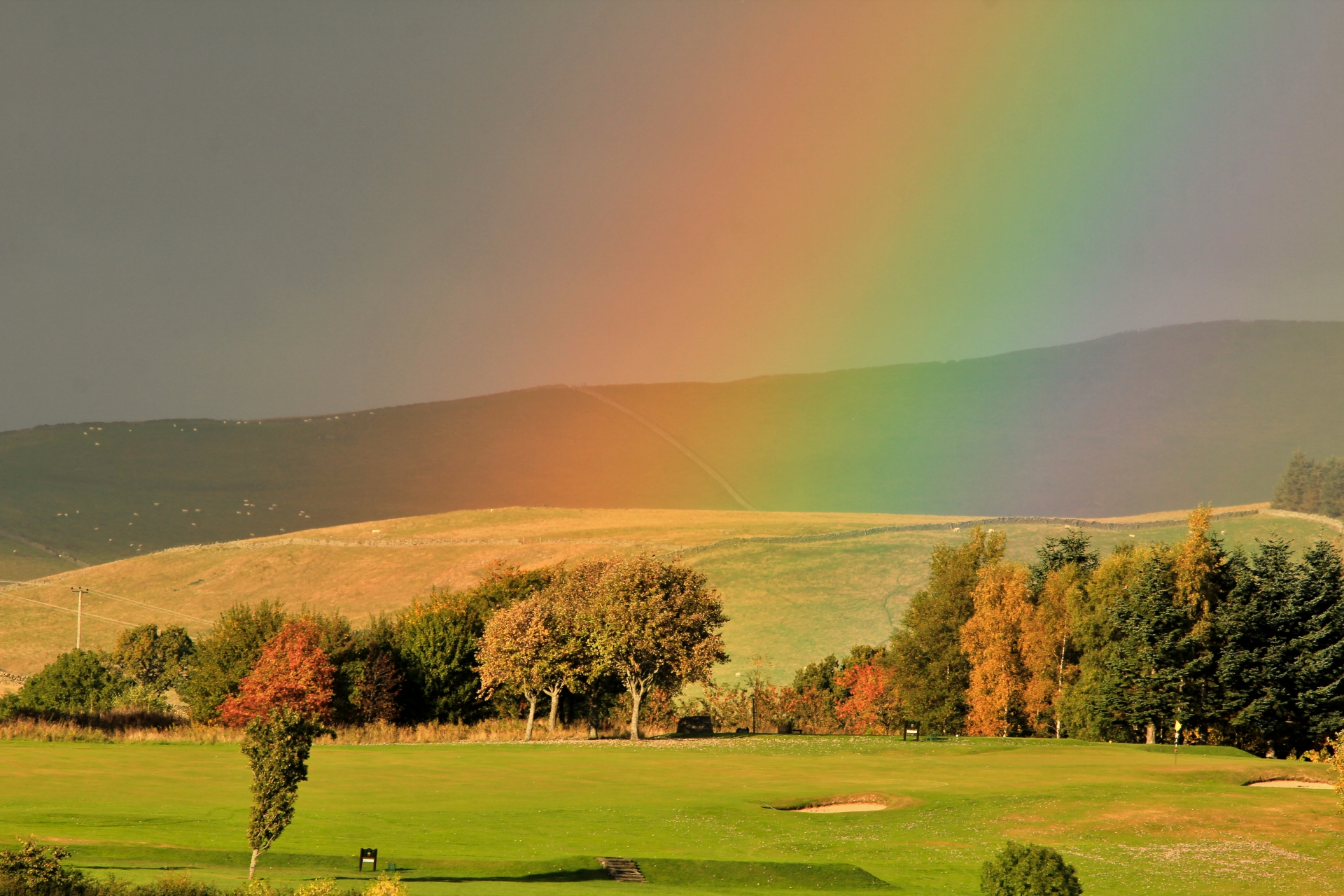 golf course rainbow