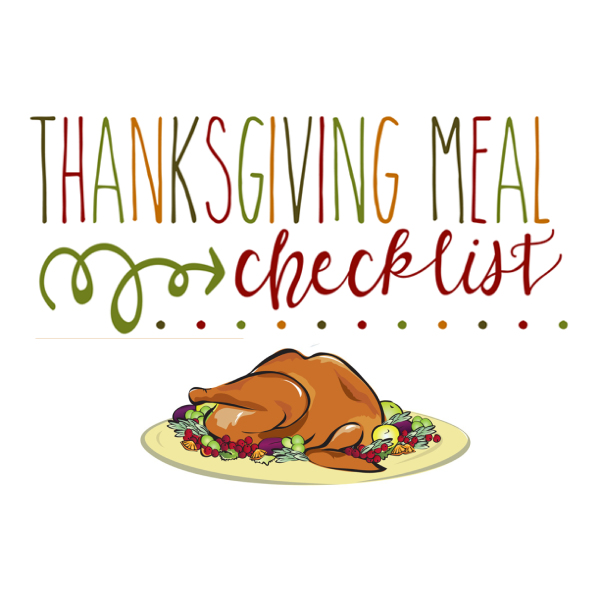Discover. . .Your Thanksgiving Checklist!