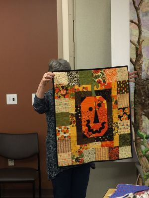 Deanne's Halloween wall hanging