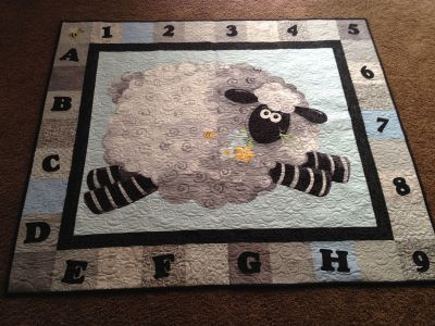 Sheep quilt by Ginny