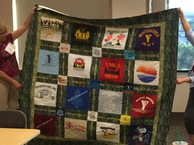 t-shirt quilt made by Diane