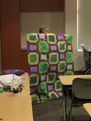 Jelly roll quilt by Mary