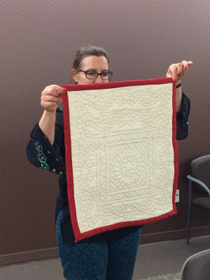 Ethel's quilted doll quilt