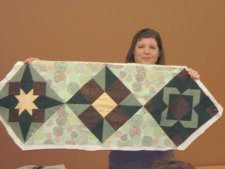 Gwyn's table runner from Carolyn McCormick class