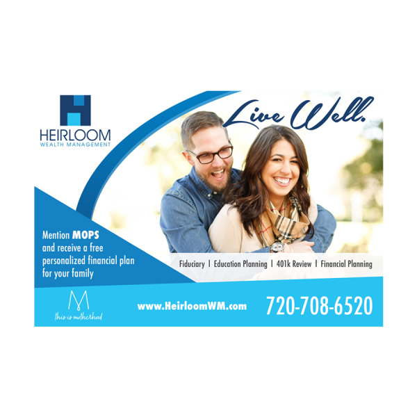"""Heirloom WM - """"Live Well"""" Campaign"""