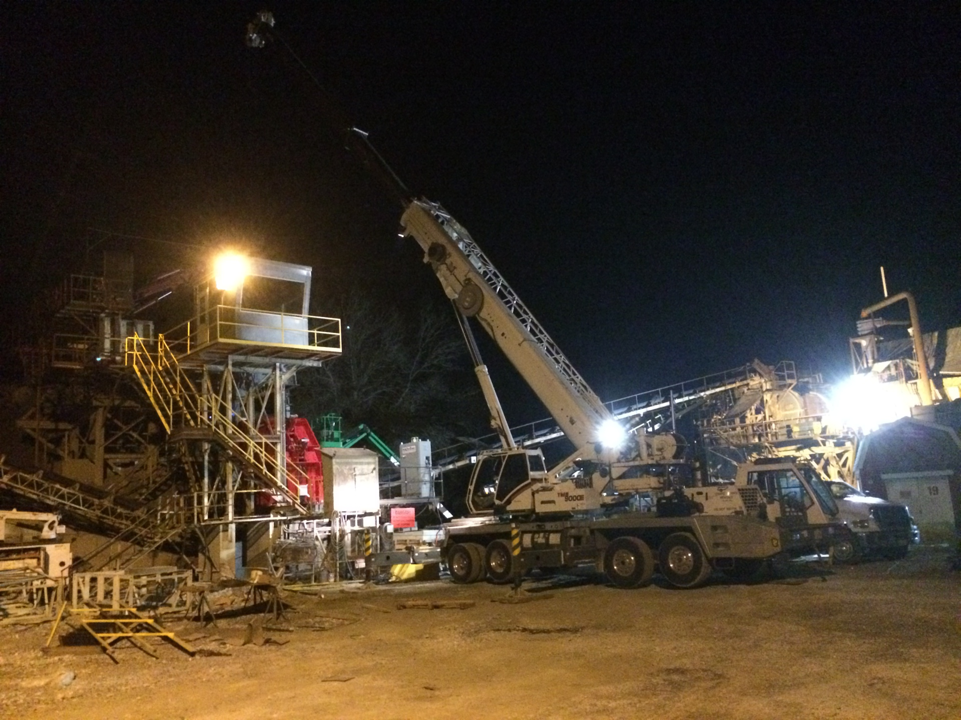 Night Work at Quarry