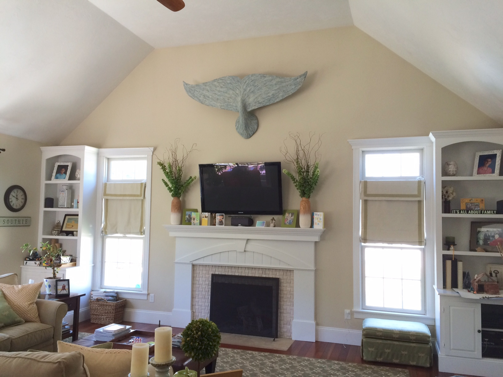 6ft whale tail in blue/gray