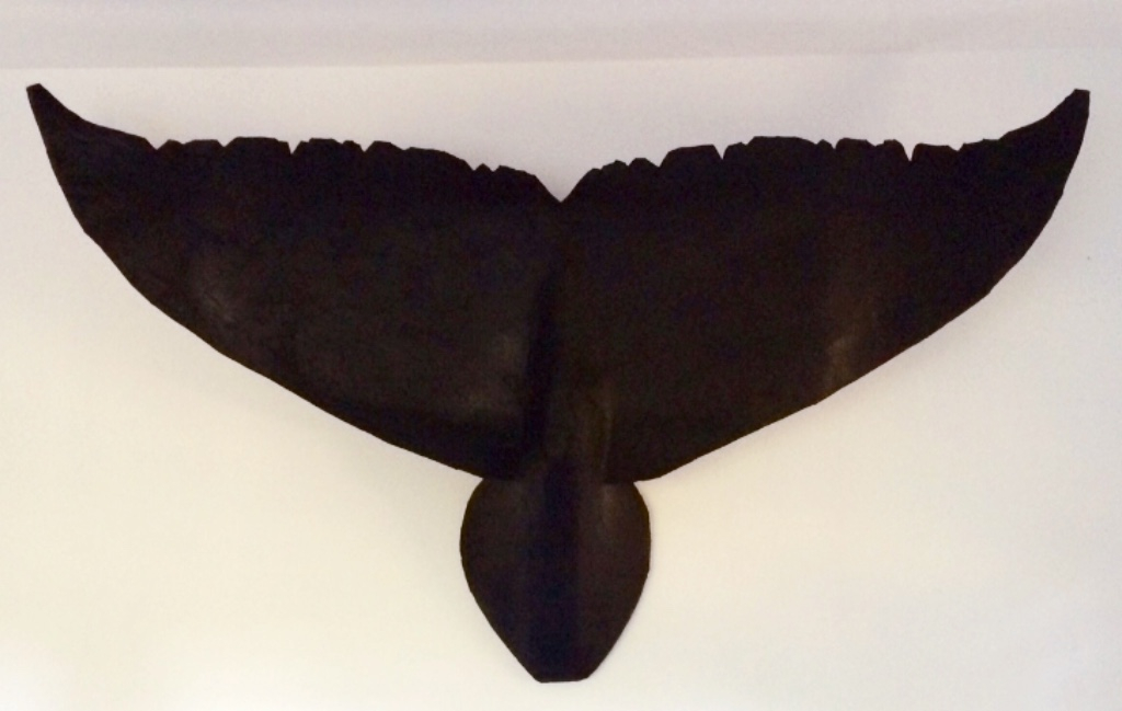 4ft whale tail in black