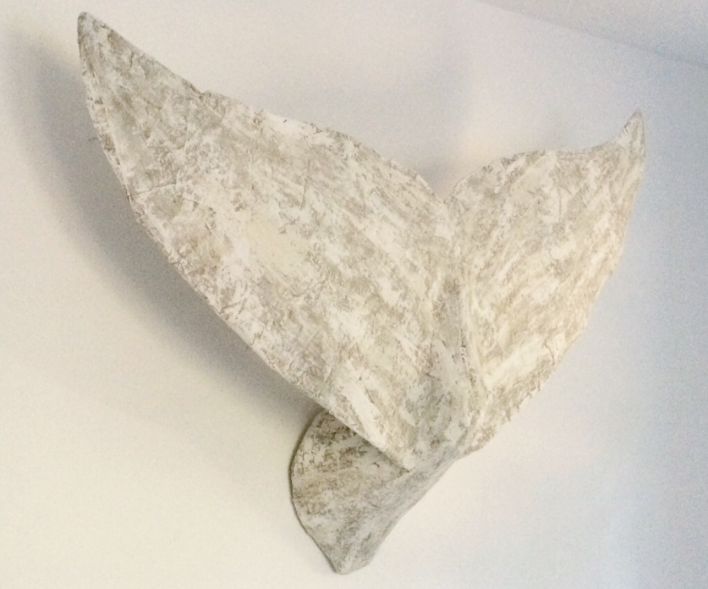 3ft whale tail weathered natural tones
