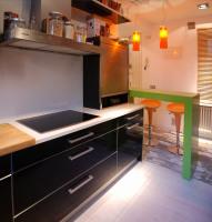 kartell, bombo stool, magis, kitchen, silestone