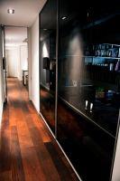 rimadesio, velaria, glass doors, hardwood floor, walnut floor