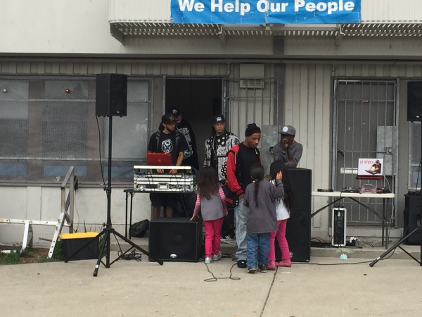 God Squad performs at  a community evangelical event