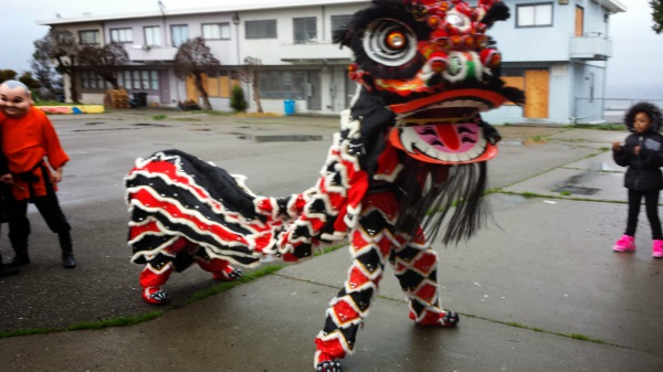 1st Lunar New Year Dragon comes to Huntersview!