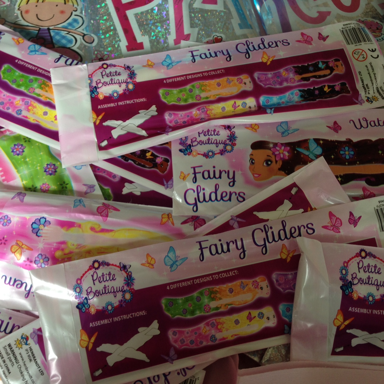 Children's filled party bags