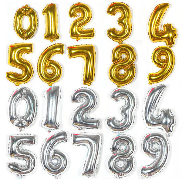 Giant number balloons