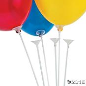 Latex balloons on sticks