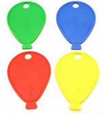 Plastic balloon weights