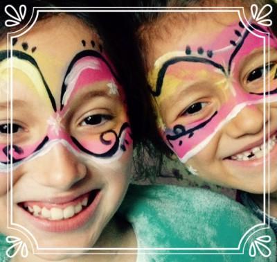 face paint girls