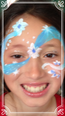 frozen face paint