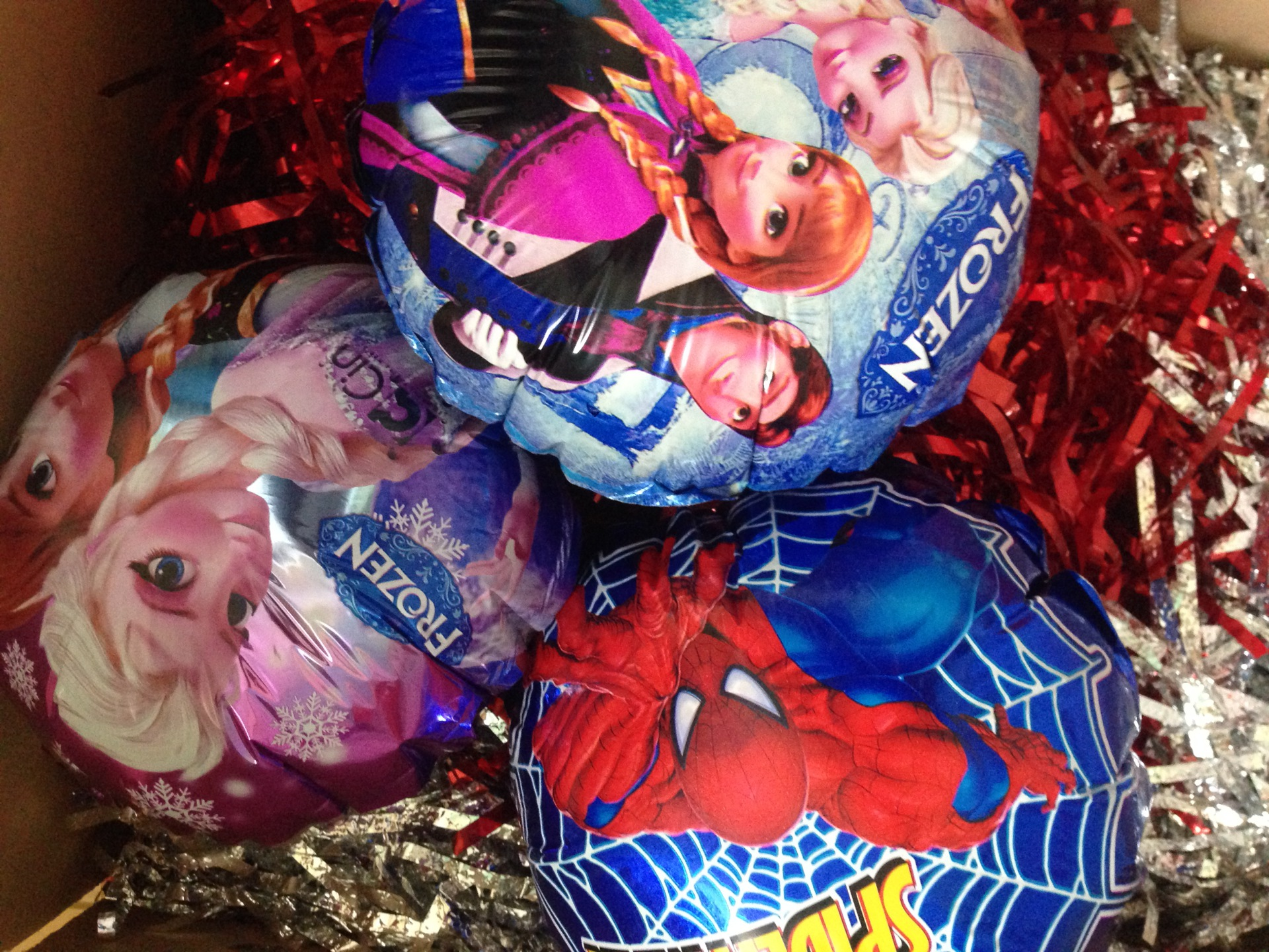 New! Frozen/spiderman balloons on sticks- 99p Each