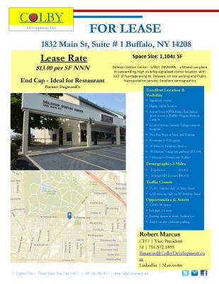1832 Main Street, Suite #1 - Buffalo, NY