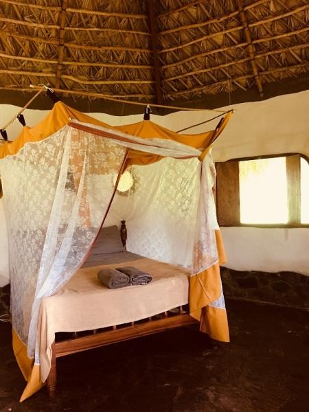 Inside the cabana