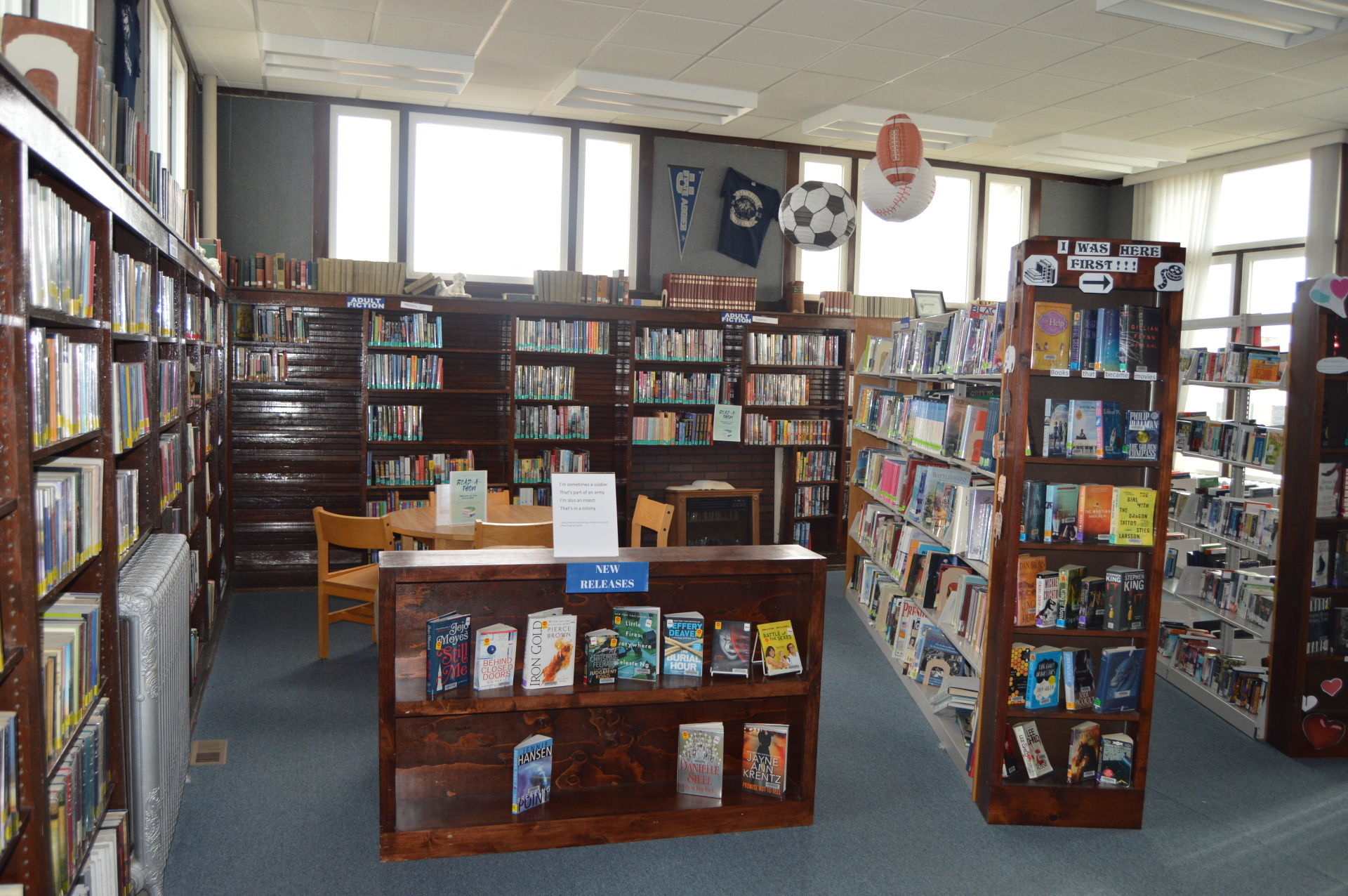 Adult Fiction & Non Fiction Section