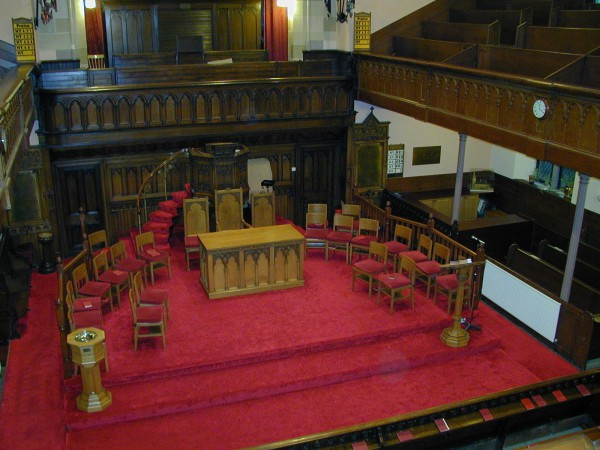 Chancel from upstairs