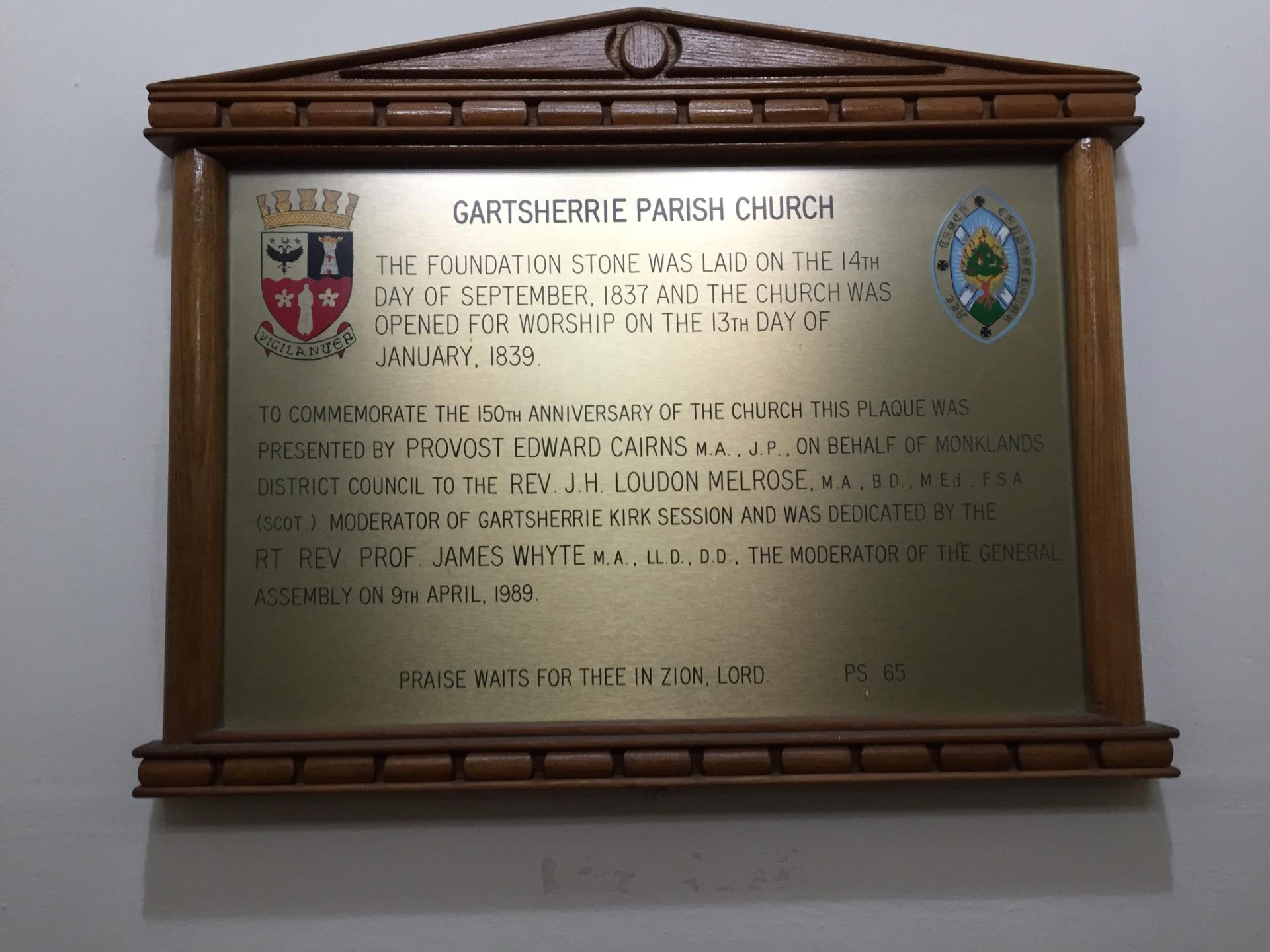 Anniversary plaque