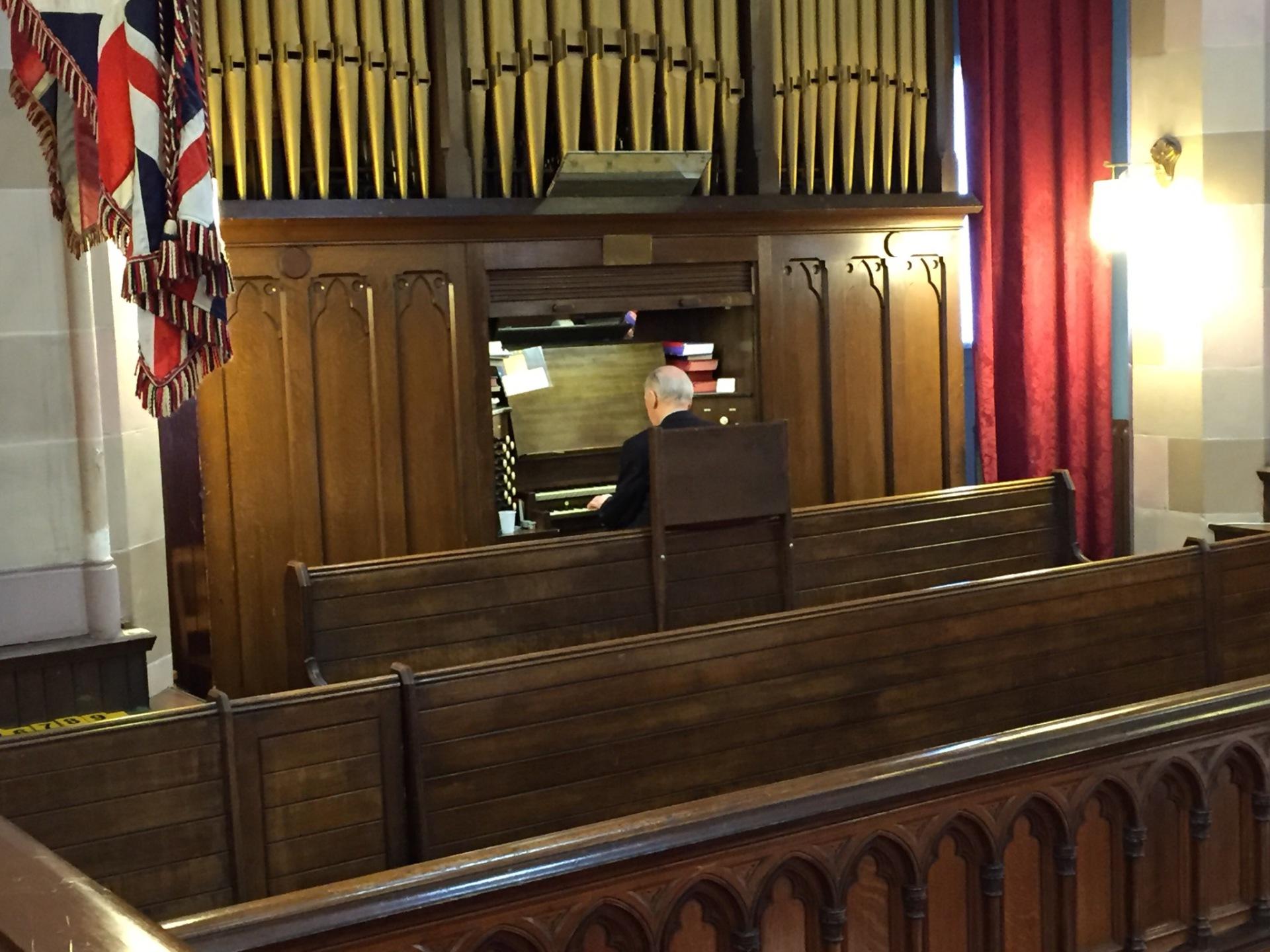 Stewart Alston at the organ