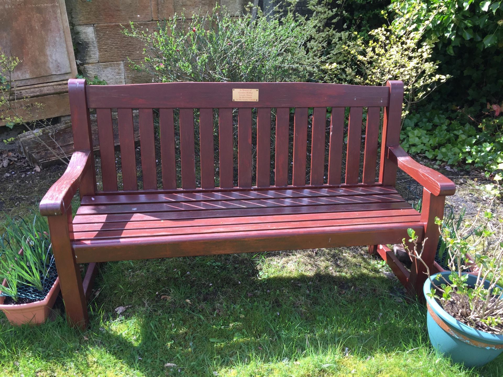 Bench in memory of Gordon McRae