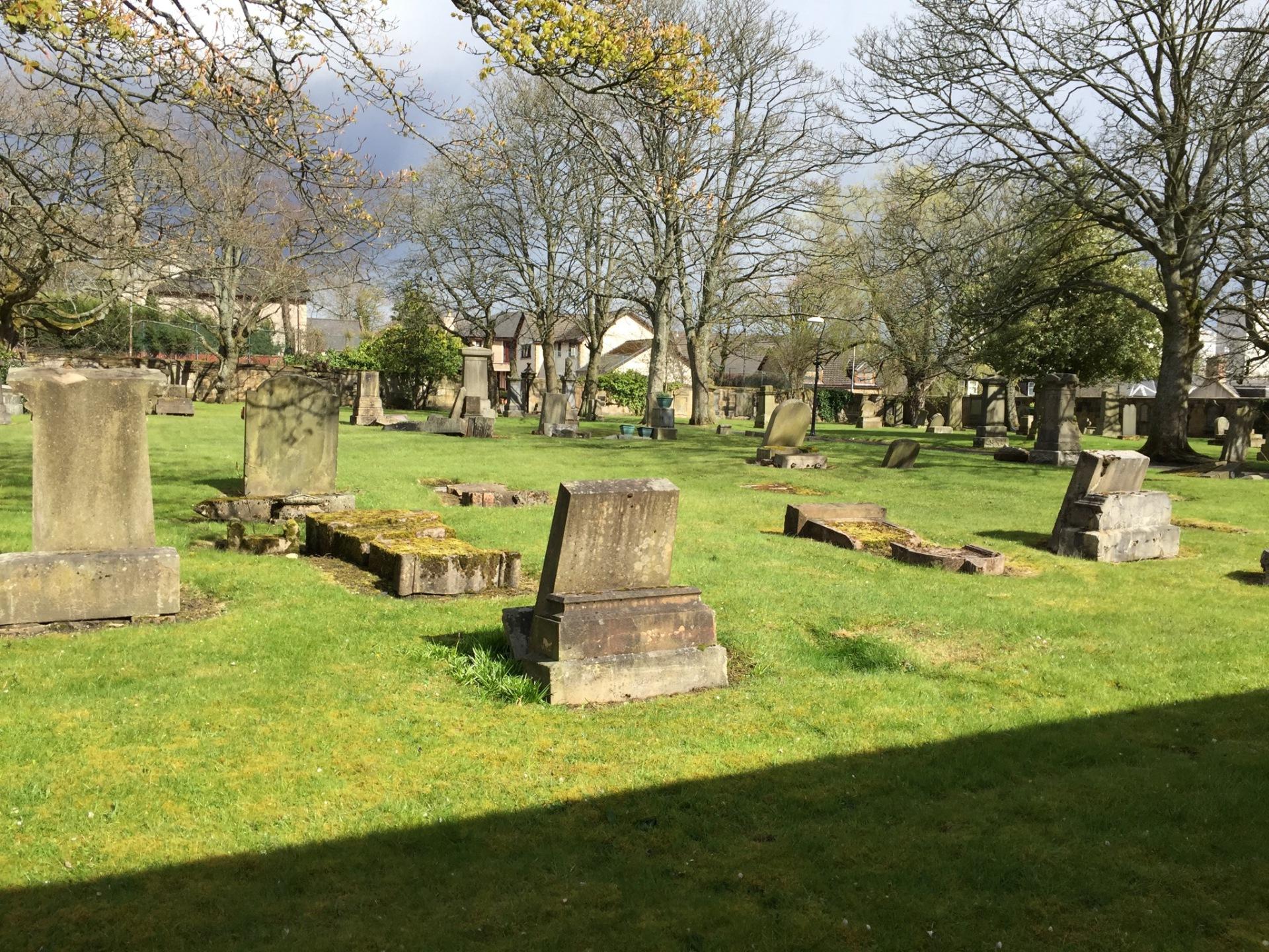 Graveyard behind church