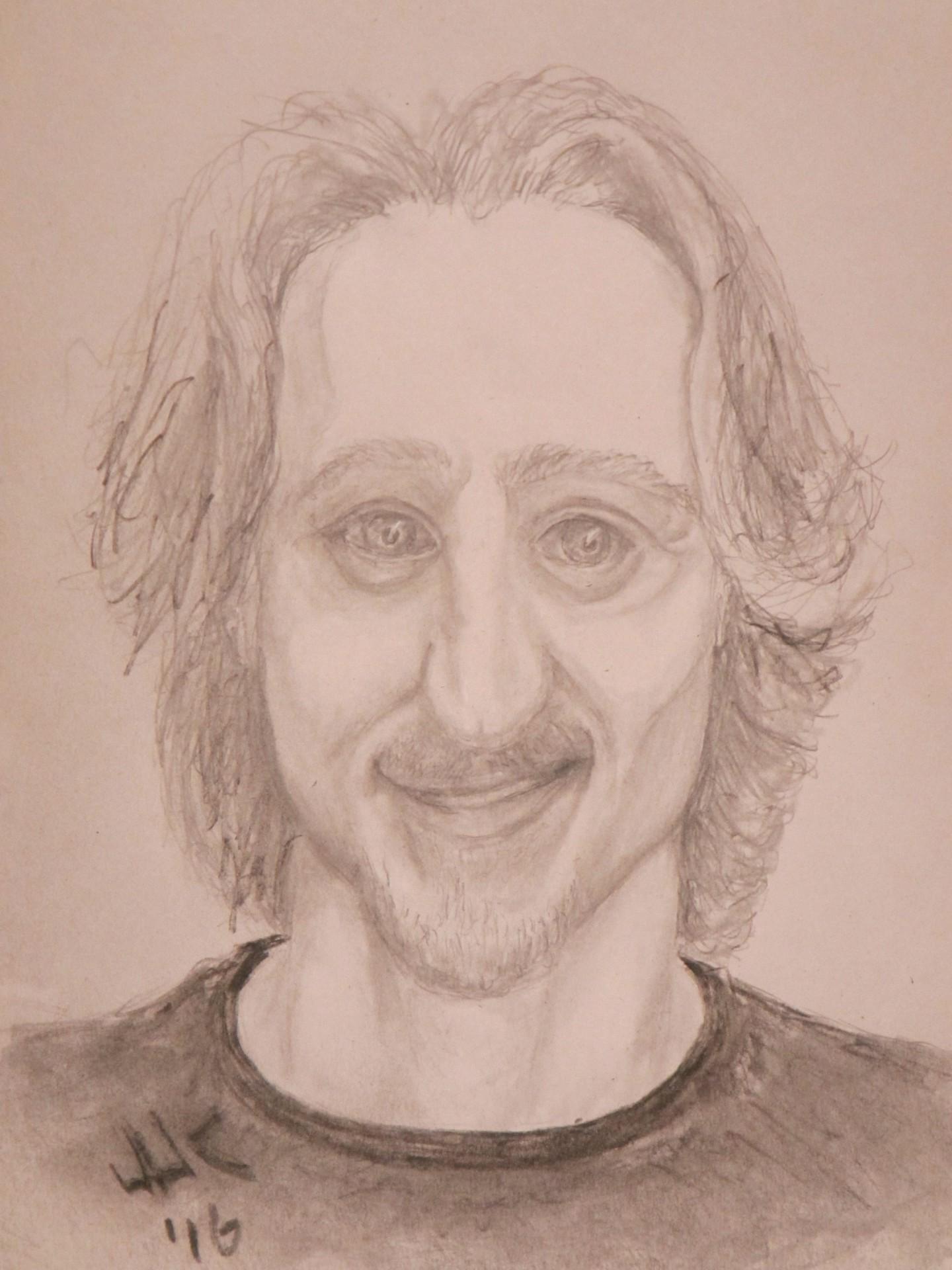 Pencil portrait of the artist's grandson, Brandon.