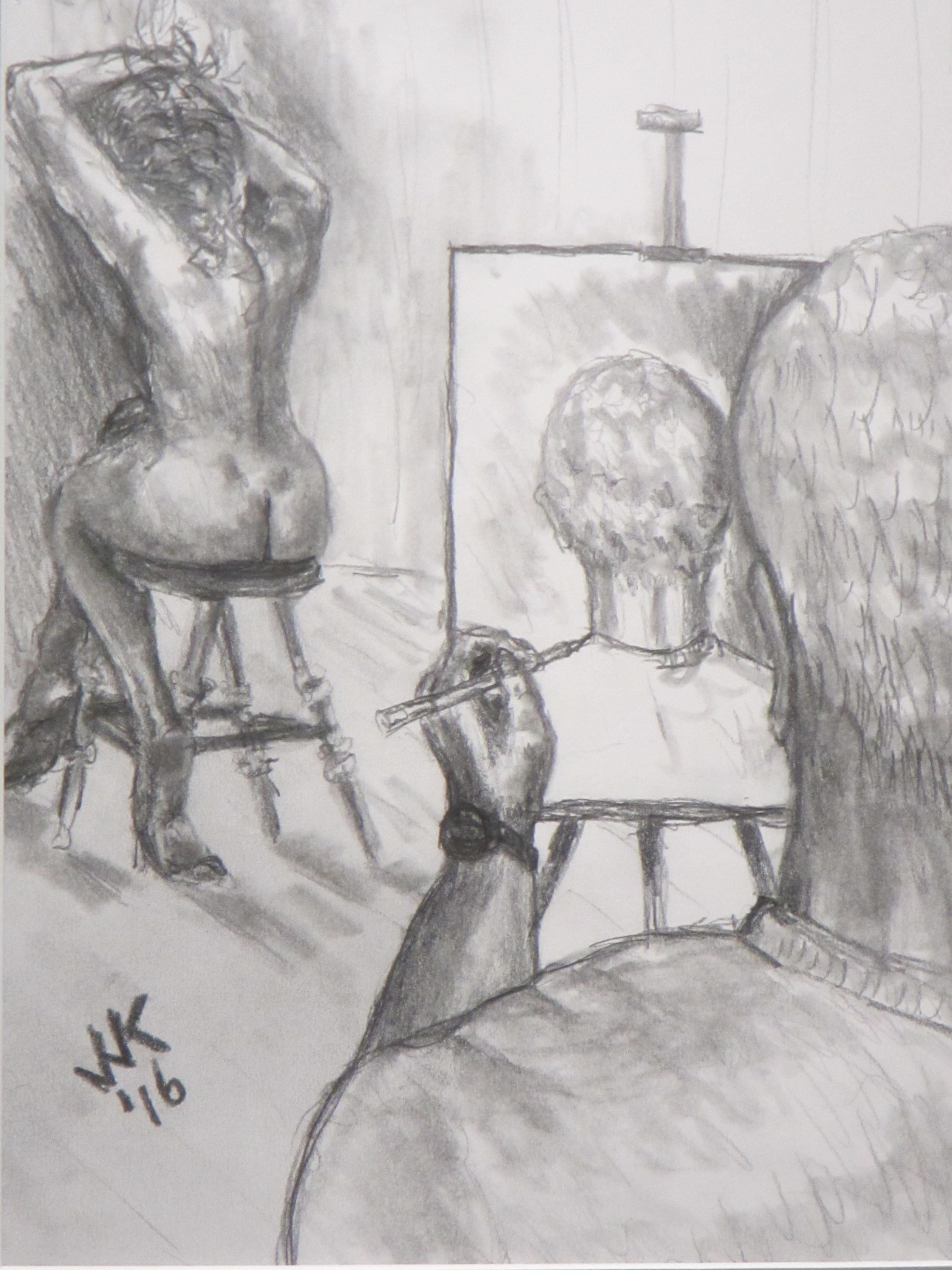 An artist who cannot seem to draw what he sees.