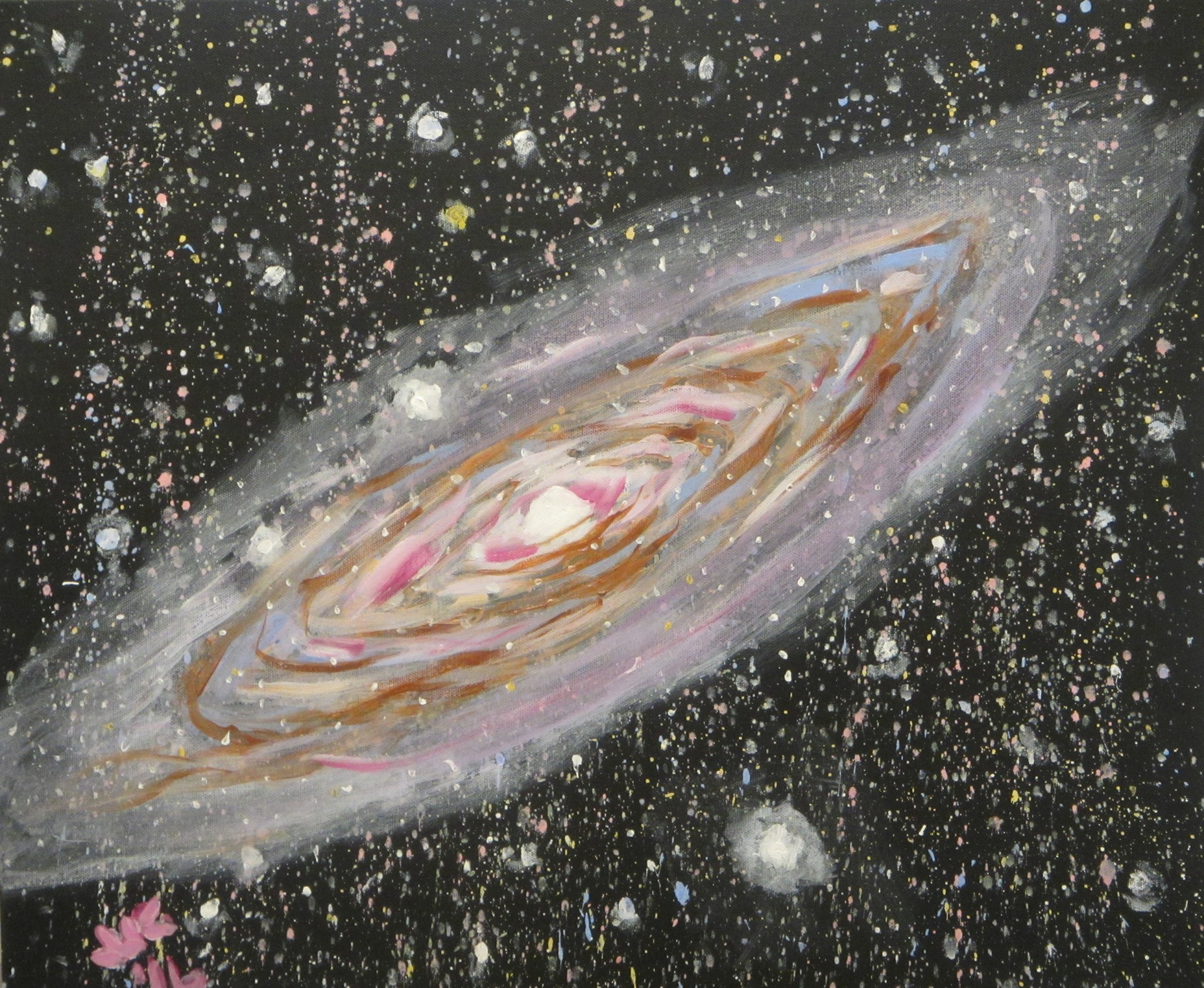 Abstract starscape showing the galaxy Andromeda.