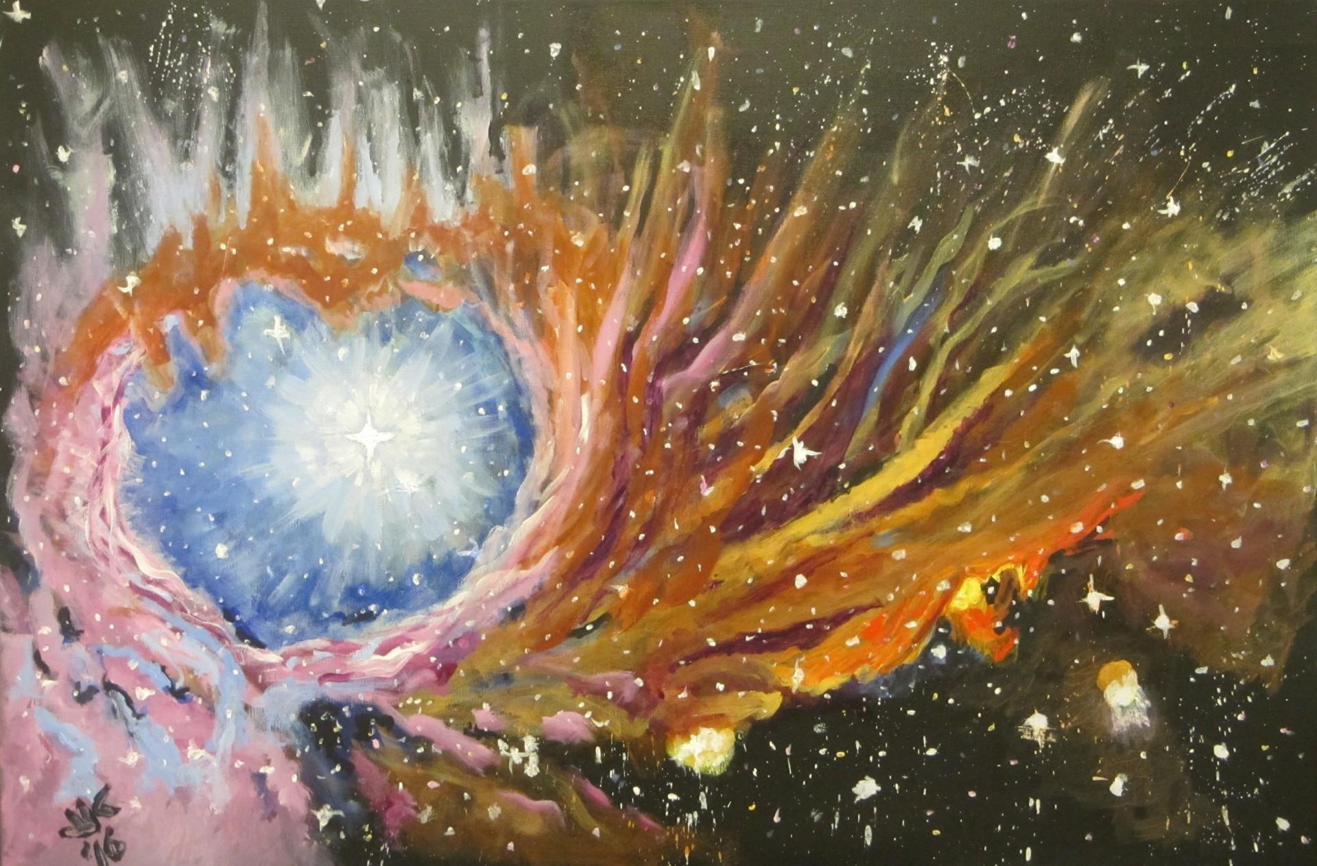 The M-43 nebula.