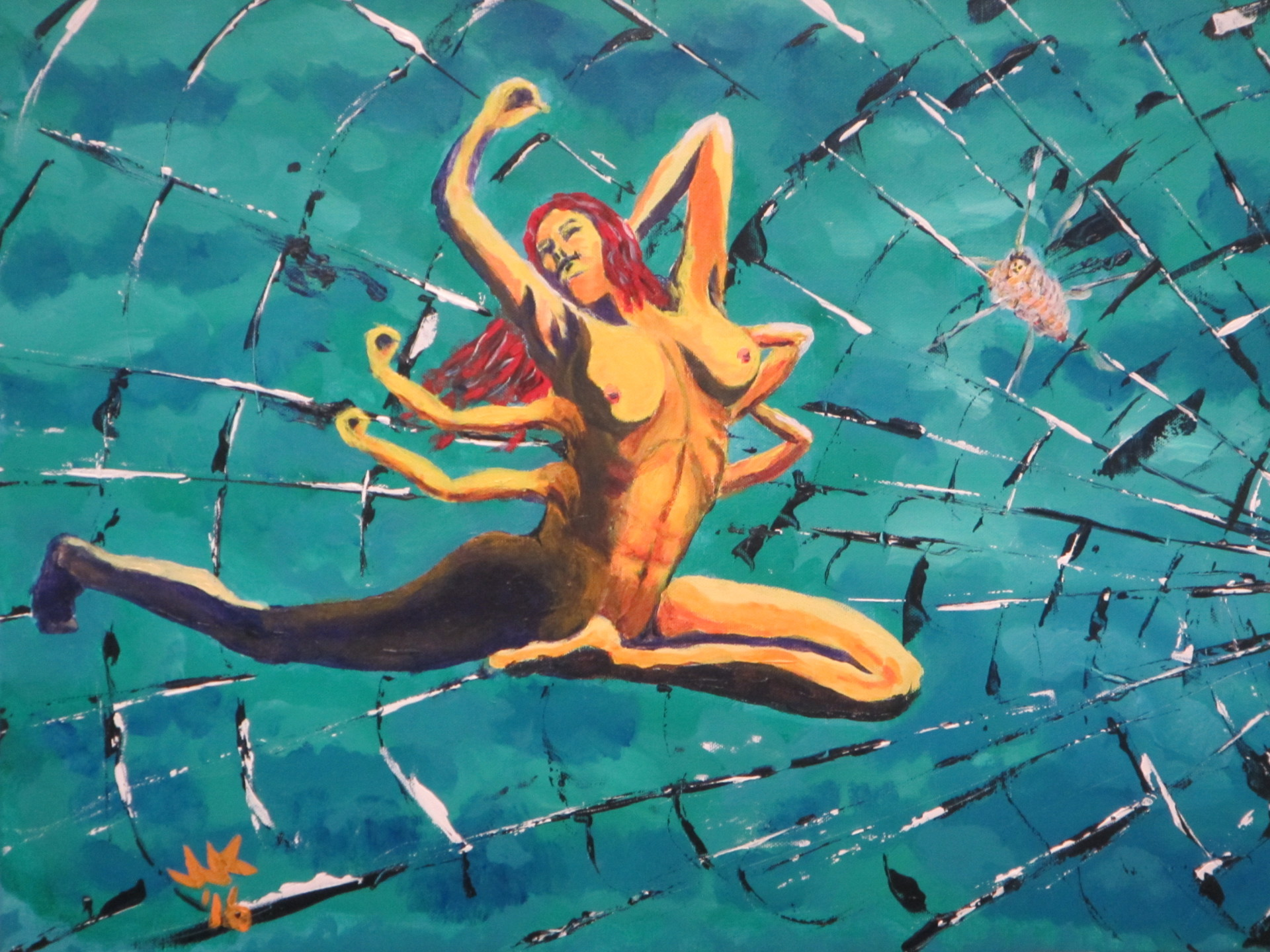 Abstract of a spider woman.