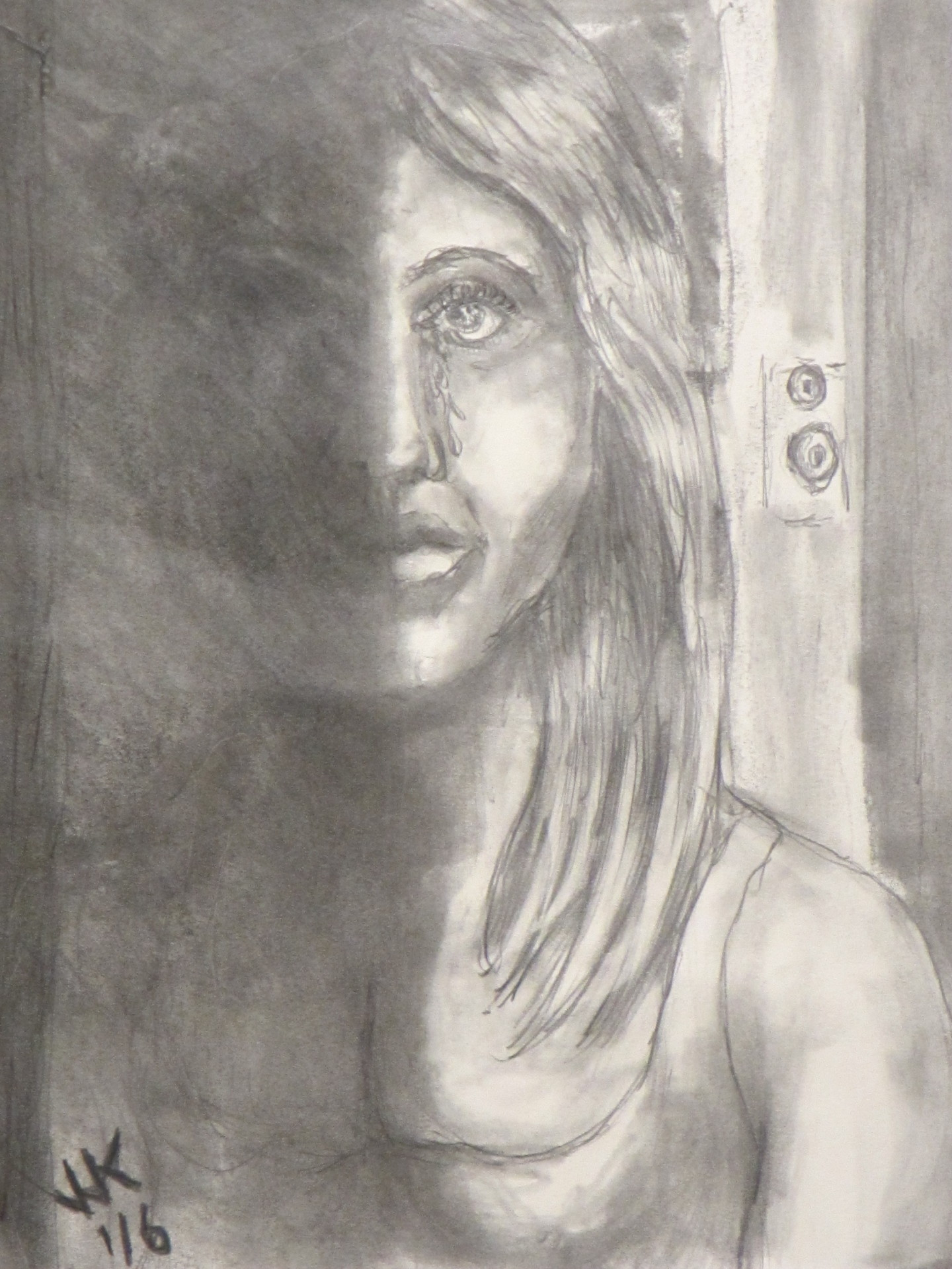"""A homeless girl with no place to sleep. """"Forgotten Faces"""" series number 1."""