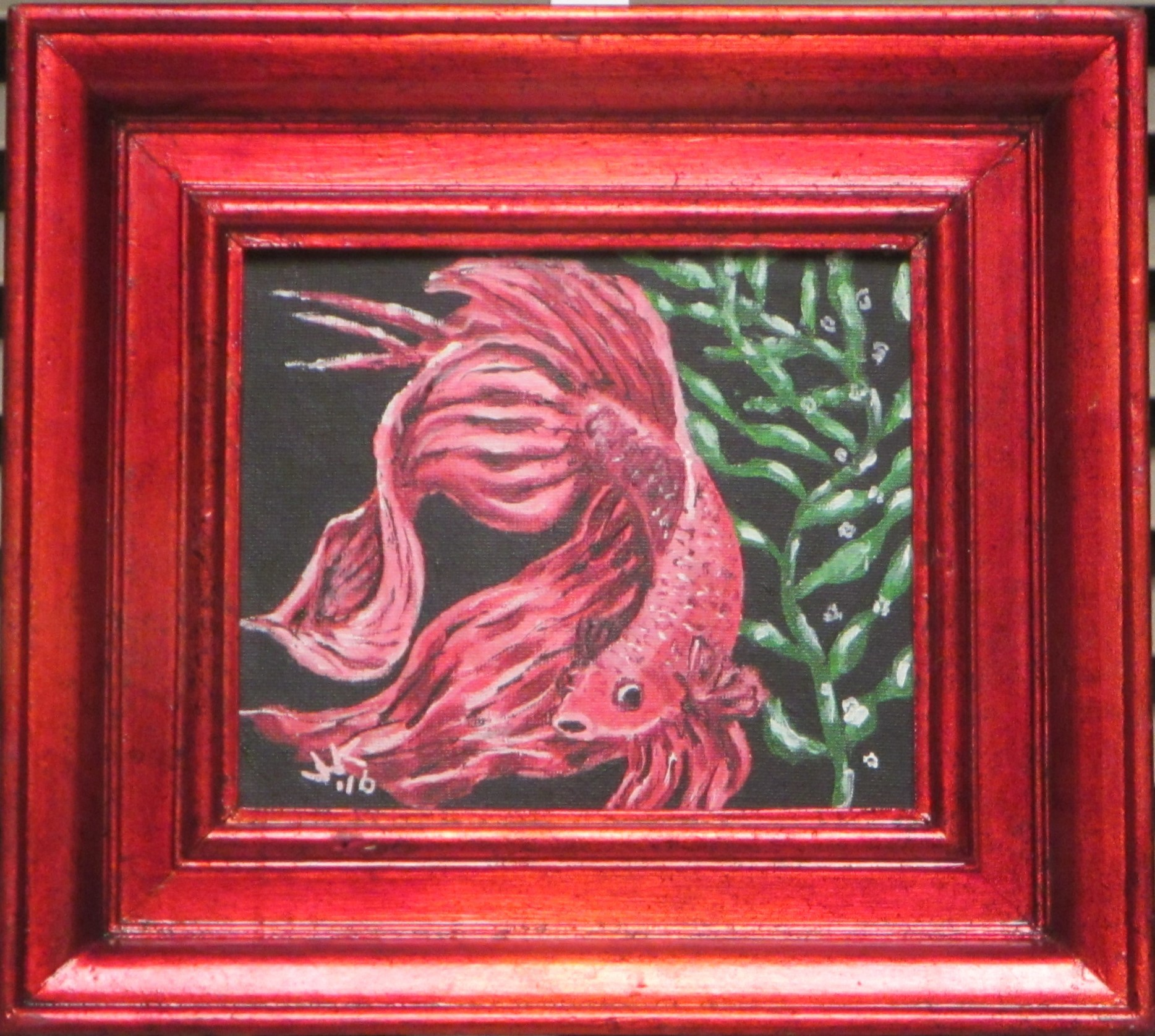 Red Betta in Red Frame
