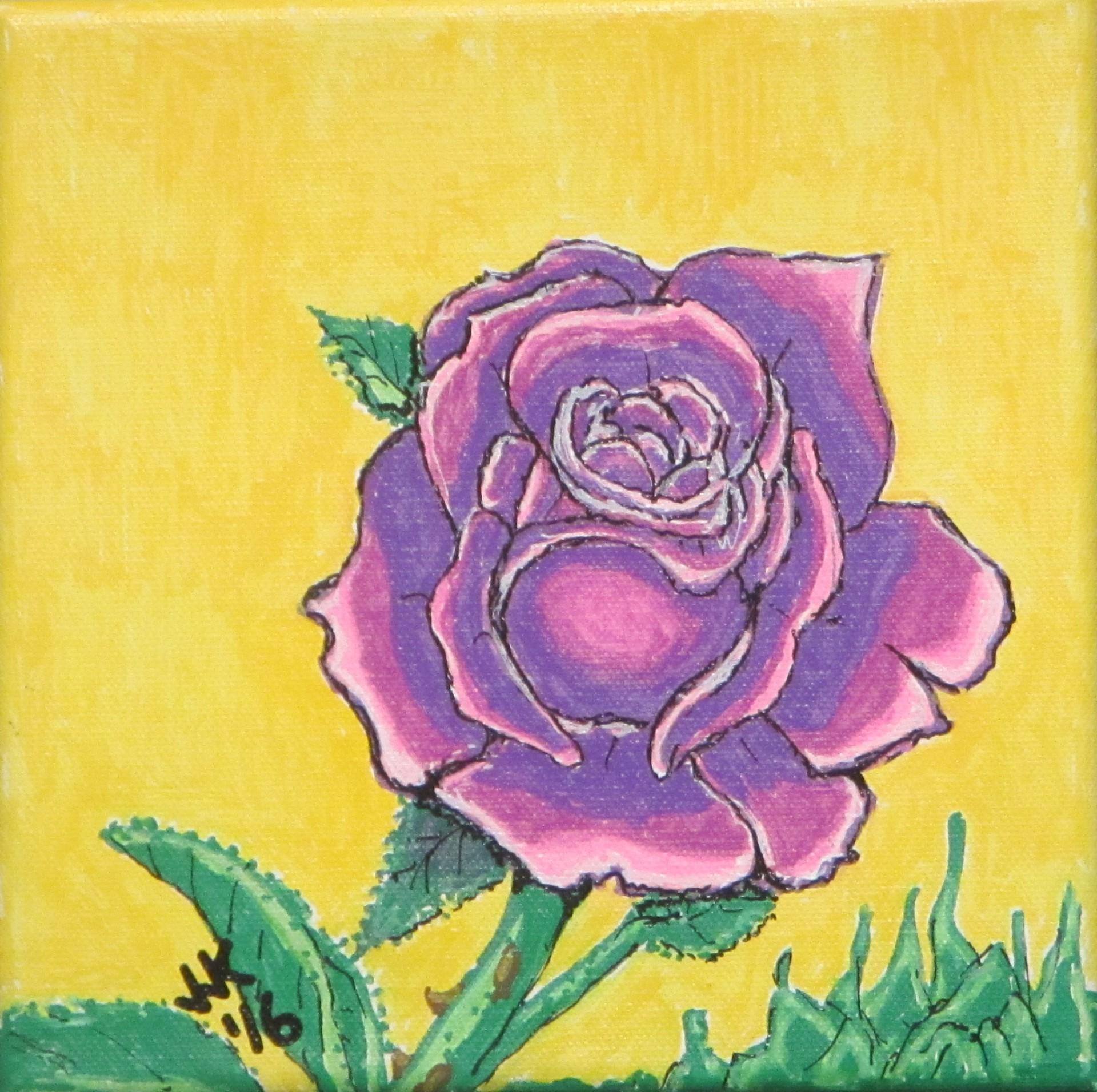 A purple rose.