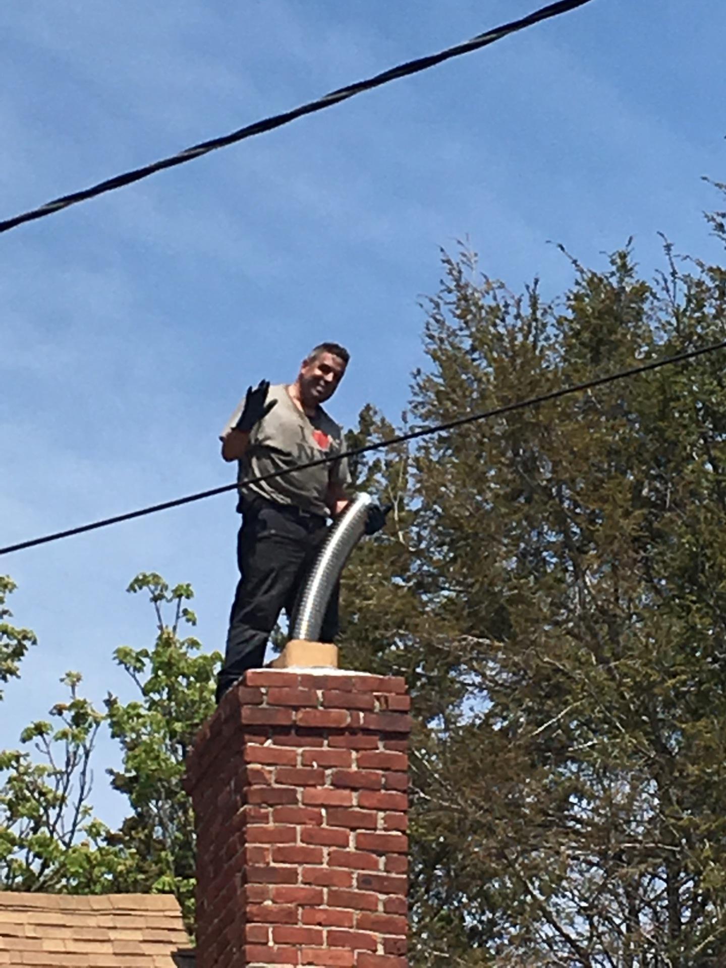 Steve on chimney