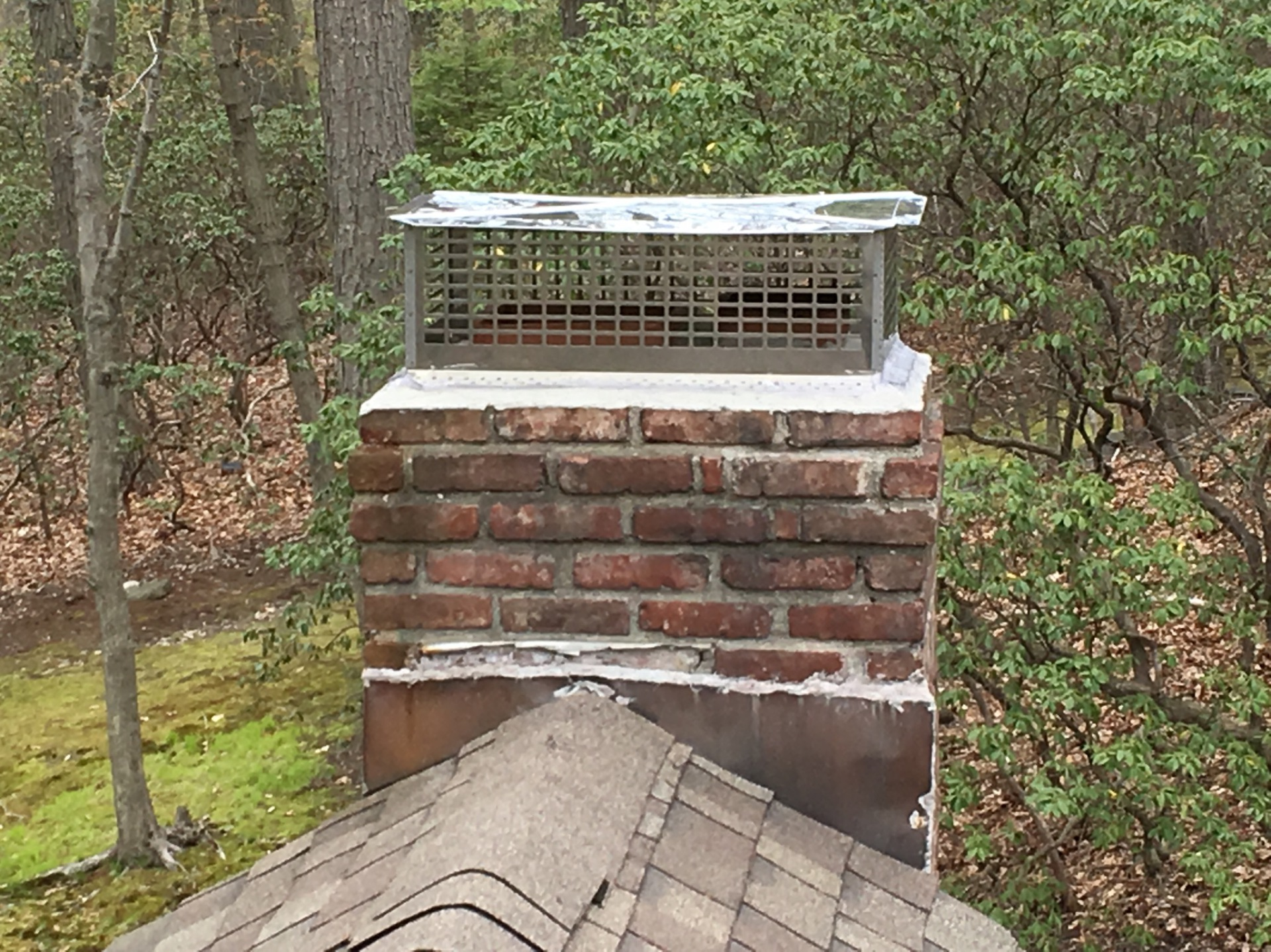2nd chimney with custom cap