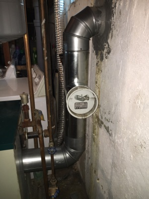 New furnace pipes