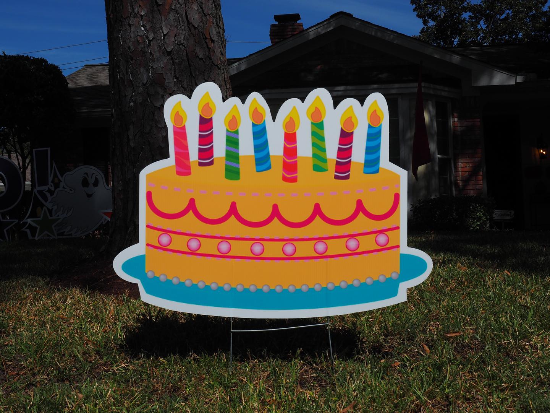 Birthday Cake - Yellow