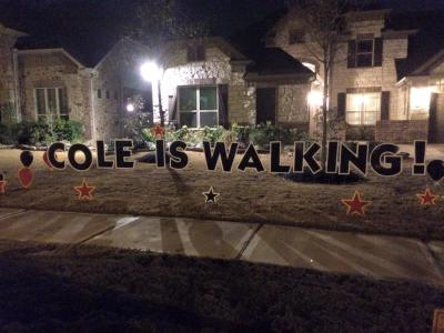 Cole is Walking!