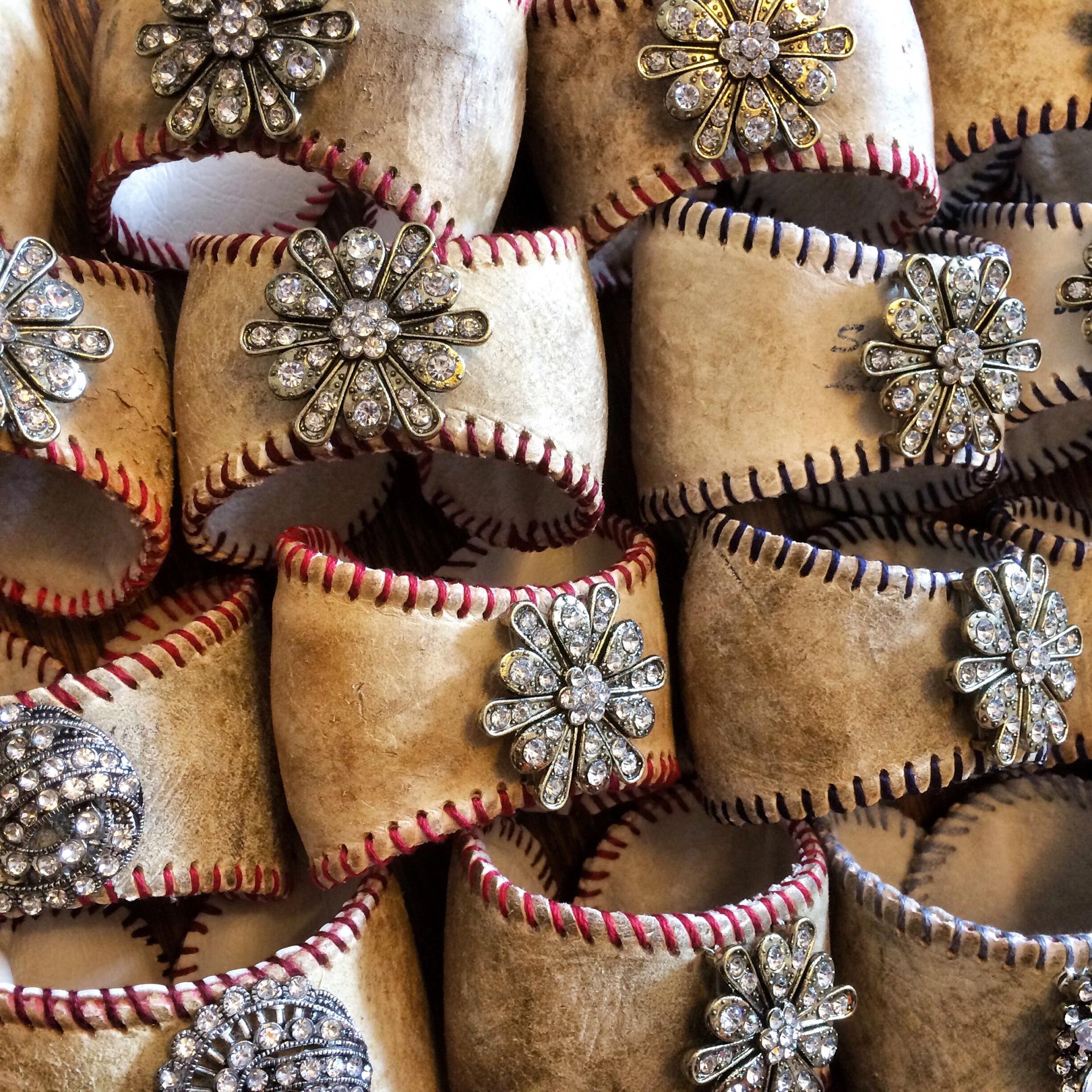 Rustic Baseball Cuffs