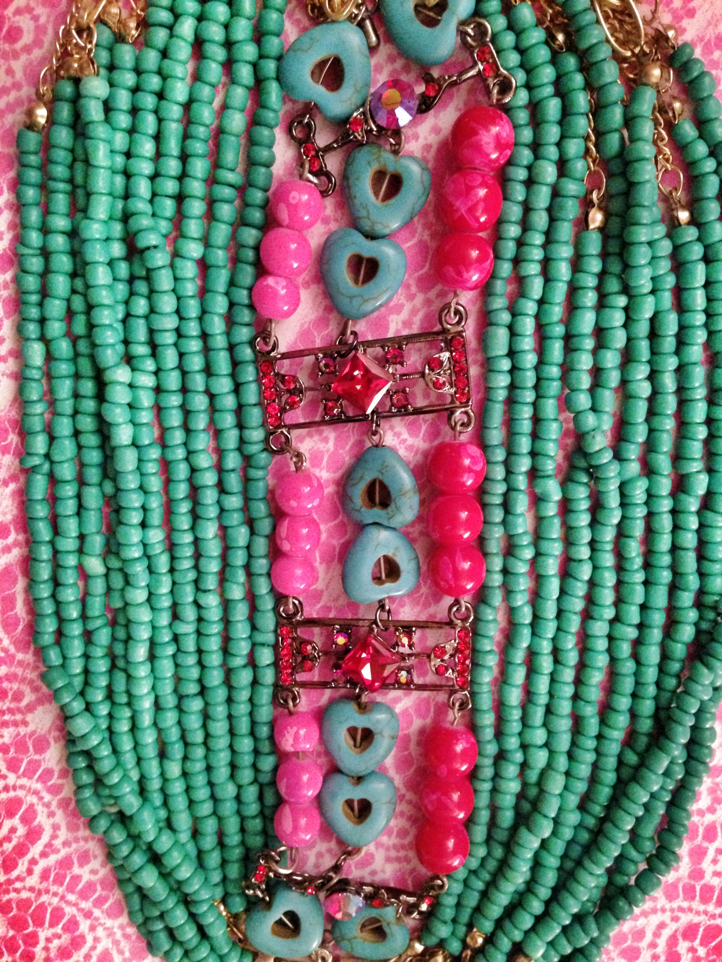 Tribal Boho Beaded Necklace