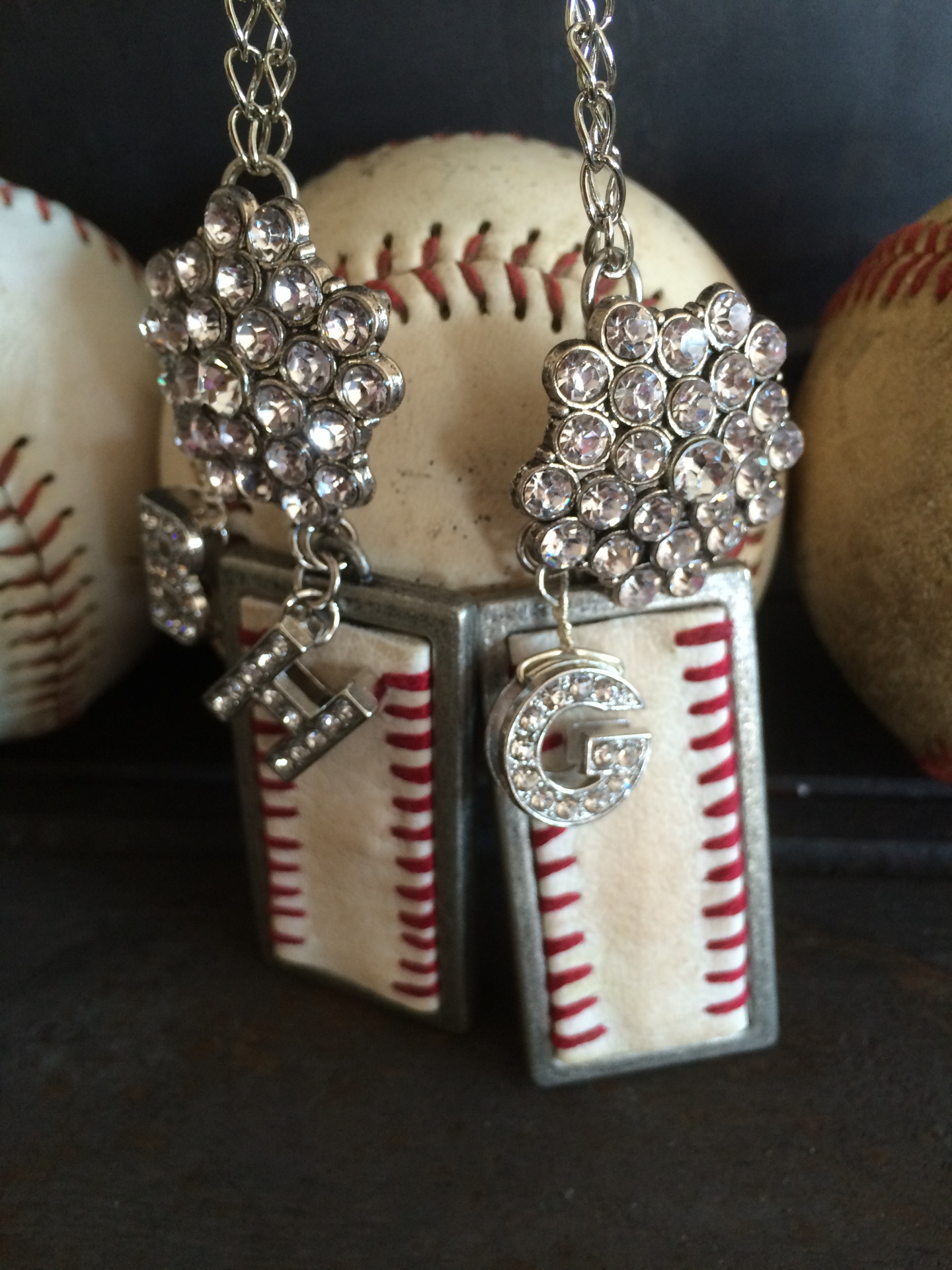 Rectangle Baseball Necklace